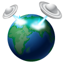 invasion, world, earth, Ufo, globe MidnightBlue icon