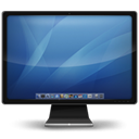 mac, screen, monitor SteelBlue icon
