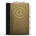 Addressbook, phonebook DarkOliveGreen icon