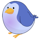 twitter, bird, Animal MidnightBlue icon