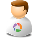 Picasa, user Black icon