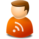 Rss, user Black icon
