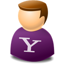yahoo, user Black icon