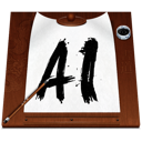 File, document, Ai, illustrator WhiteSmoke icon