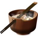 chinese, meal, oriental, japanese, food, japan, Bowl, Asian, chopsticks, soup, Lunch, dinner, breakfast, China Black icon