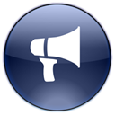 blog, promote, notifications, megaphone, announcement, Advertisement DarkSlateGray icon
