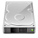 Harddrive Silver icon