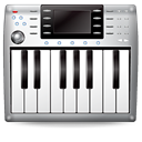 music, Keyboard, midi Black icon