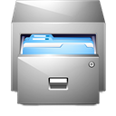 Folders, documents, Drawer DarkGray icon