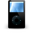mediaplayer, ipod, Apple Black icon