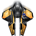 fighter, spaceship, Anakin, skywalker Black icon