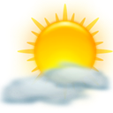 weather, sun, Clouds Gold icon