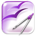 Draw, Openofficeorg, 20 Lavender icon
