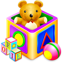 Games, kids, package Gold icon