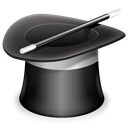 wizard, magic, hat, Assistent DarkSlateGray icon
