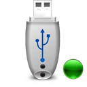 usbpendrive, mount Black icon