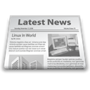 newsletter, News paper, Latest news Black icon