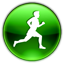Man, sprinting, sorting, Running DarkGreen icon