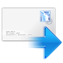 mail, Forward WhiteSmoke icon