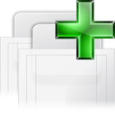 new, tab, raised WhiteSmoke icon