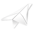 outbox, paper plane Black icon