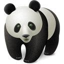 chinese, cute, panda, bear, China, Animal, oriental Black icon