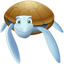 Animal, turtle Black icon