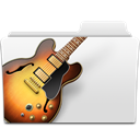 Bass, guitar, Folder, music, garageband, musicworld, jazz, Garage band Gainsboro icon
