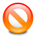 Adblock, stop, disallow Black icon