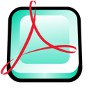 Acrobat, adobe, distiller Black icon