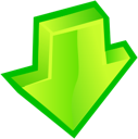 Arrow, Down GreenYellow icon