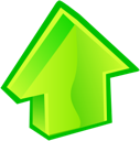 Up, Arrow GreenYellow icon