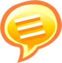 Chat, speech, talk Coral icon