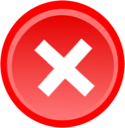 delete, remove, Exit Red icon