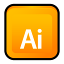 adobe, cs3, illustrator Orange icon