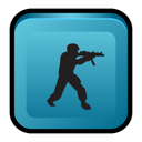 scenes, deleted, Counter, Strike SteelBlue icon