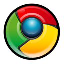 chrome, google Black icon