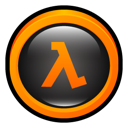 half, halflife, life Black icon