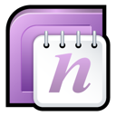 office, 2007, onenote, microsoft Plum icon