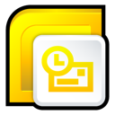 office, microsoft, outlook, 2007 Gold icon