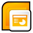 powerpoint Orange icon
