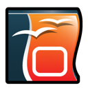 Impress, open, office DarkSlateGray icon