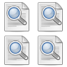 Find, magnifying glass, search, zoom WhiteSmoke icon