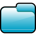 Blue, Closed, Folder LightSeaGreen icon