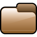 Closed, Brown, Folder Sienna icon