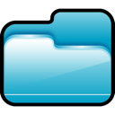 Blue, Folder, open MediumTurquoise icon