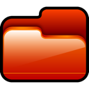 open, red, Folder Firebrick icon