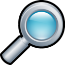 magnifying, glass Black icon