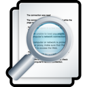 document, File, preview, search, zoom WhiteSmoke icon