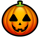 jack o lantern, squash, halloween Black icon
